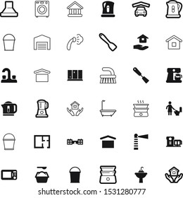 house vector icon set such as: smooth, eps10, processor, pictogram, greece, farming, governmental, bathtub, shine, page, smoothing, public, microwave, cool, barn, paper, navigation, industry, plug