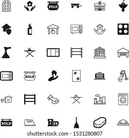 house vector icon set such as: chemical, stick, washing, college, detergent, pictogram, ownership, cool, device, gate, car, promotion, rail, perspective, old, security, floor, emblem, clear, trailer