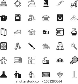 house vector icon set such as: lawyer, storage, vintage, beach, agriculture, hoover, log, espresso, factory, legal, auction, warm, innocence, board, lady, load, napkin, light, icons, kettle, front