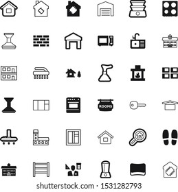 house vector icon set such as: apartment, pattern, broom, cabin, instrument, architect, badge, shoe, shipment, dinner, magnifying, nature, minimal, hotel, company, fashion, metal, cuisine, beauty