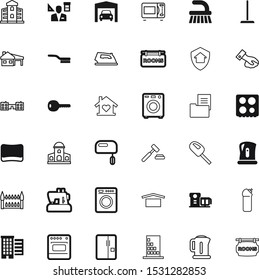 house vector icon set such as: shield, maid, architector, lawyer, mansion, insurance, steel, chemical, justice, electricity, red, bank, manager, auction, bake, device, agreement, authority