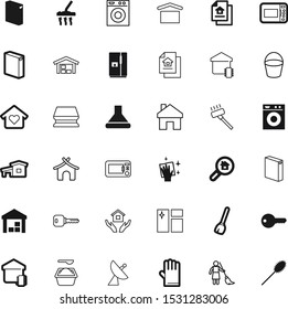 house vector icon set such as: fridge, glove, summer, sweet, cooler, range, doodle, tree, surface, dock, science, magnification, garbage, style, sweep, delivery, pot, shipment, travel, protection