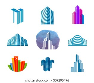 house vector logo design template. city or building icon