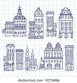 House vector set
