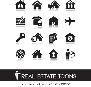 House vectors. Estate and building icons.
