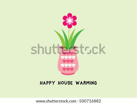 House warming greeting card plant graphic stock vector royalty free house warming greeting card with plant graphic m4hsunfo