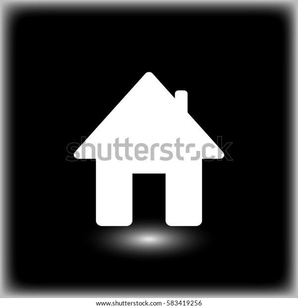 House web icon. flat vector style