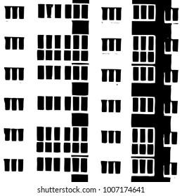 house window pattern. Vector