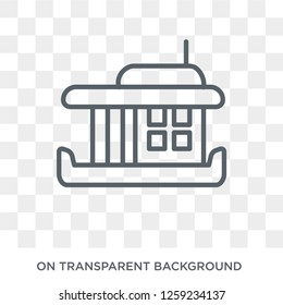 houseboat icon. houseboat design concept from Transportation collection. Simple element vector illustration on transparent background.