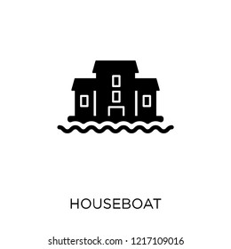 houseboat icon. houseboat symbol design from Transportation collection.