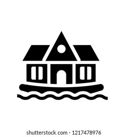 houseboat icon. Trendy houseboat logo concept on white background from Transportation collection. Suitable for use on web apps, mobile apps and print media.