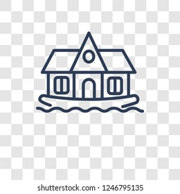 houseboat icon. Trendy houseboat logo concept on transparent background from Transportation collection