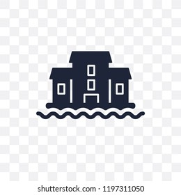 houseboat transparent icon. houseboat symbol design from Transportation collection.