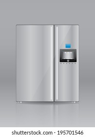 Household appliances. Refrigerator. Vector eps10