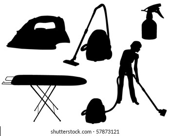 household appliances silhouette