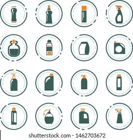 Household chemicals icon set for web sites and user interface