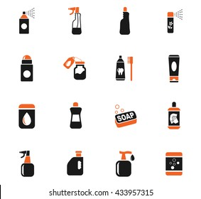household chemicals web icons for user interface design