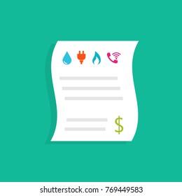 Household utility bills. Vector illustration