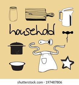 household vector illustration, eps 10