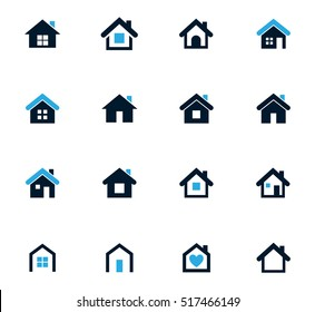 Houses icon set for web sites and user interface