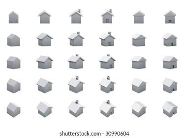 houses multiple 3d views