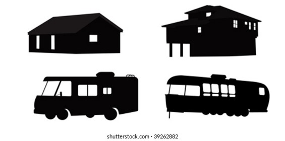 Houses and RVs.