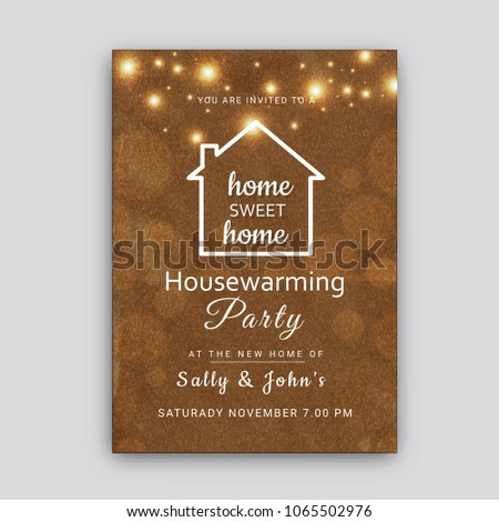 Housewarming Party Invitation Card Design