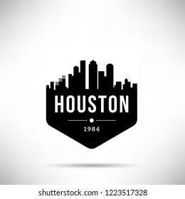 Houston City Modern Skyline Vector Template