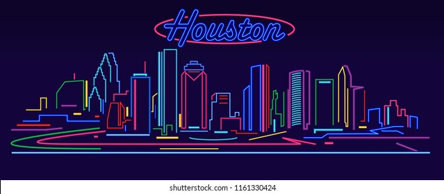 Houston Skyline by night