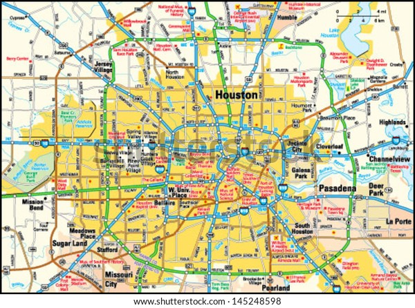 Houston Texas Area Map Stock Vector (Royalty Free) 145248598 on map of downtown houston area, map of liberty hill area, map of port of houston area, map of big bend national park area, map of nome area, map of galveston area, map of kemah area, map of baytown area, map of greenspoint area, map of fort hood area, map of lake travis area, map of college station area,