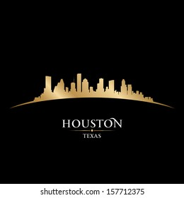 Houston Texas city skyline silhouette. Vector illustration
