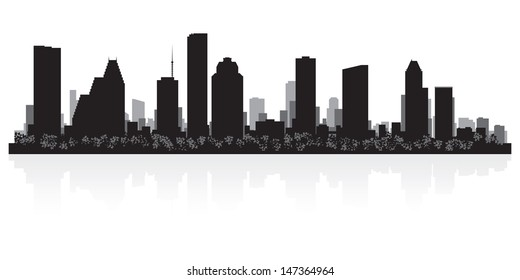 Houston USA city skyline silhouette vector illustration