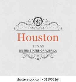 Houston,Texas.Vintage frame.
