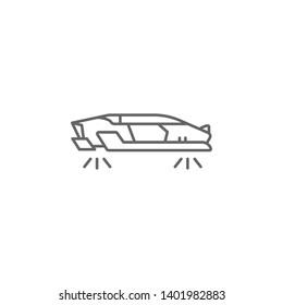 Hover car, technology icon. Element of future world icon. Thin line icon for website design and development, app development. Premium icon