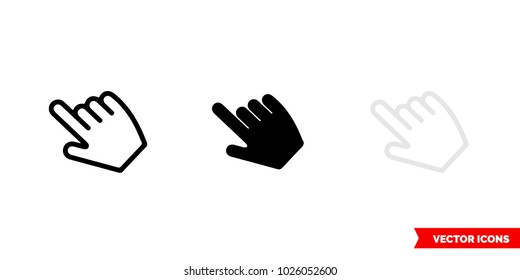 Hover icon of 3 types: color, black and white, outline. Isolated vector sign symbol.