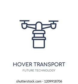 Hover transport icon. Hover transport linear symbol design from Future technology collection.