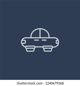 Hover transport icon. Trendy flat vector line Hover transport icon on dark blue background from Artificial Intelligence, Future Technology collection.