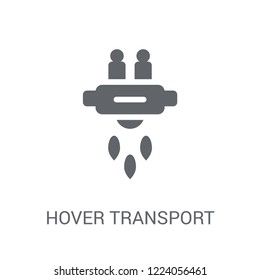 Hover transport icon. Trendy Hover transport logo concept on white background from Artificial Intelligence collection. Suitable for use on web apps, mobile apps and print media.