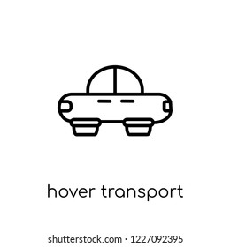 hover transport icon. Trendy modern flat linear vector hover transport icon on white background from thin line Artificial Intelligence, Future Technology collection, outline vector illustration