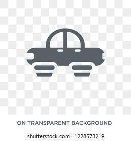 Hover transport icon.Trendy flat vector Hover transport icon on transparent background from Artificial Intelligence, Future Technology collection. High quality filled Hover transport symbol use for we