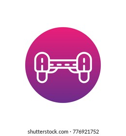 hoverboard icon, linear vector sign