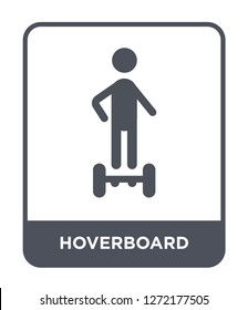 hoverboard icon vector on white background, hoverboard trendy filled icons from Future technology collection, hoverboard simple element illustration