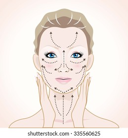 How to apply cream to the face and neck