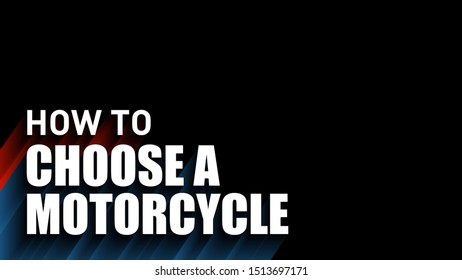 how to choose a motorcycle cover video thumbnails vector