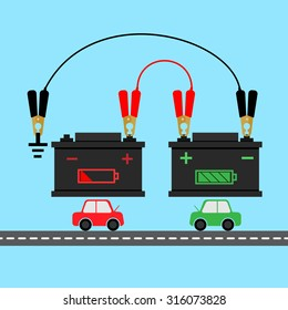 how to jump start battery car infographic