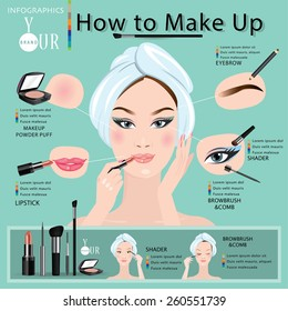 How to make a beautiful woman with makeup.