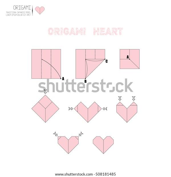 Origami Heart Images, Stock Photos & Vectors | Shutterstock | 620x600