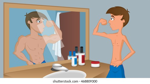 How a man sees himself in the mirror