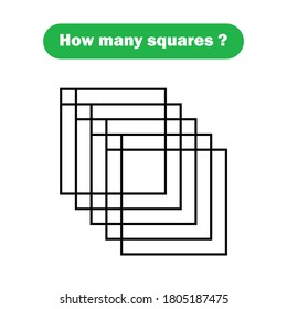 How many squares? Mathematics education game.