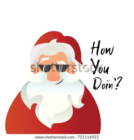How You Doin Christmas Quote Funny Stock Vector (Royalty Free ...
